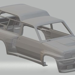 Descargar archivos 3D Renault 5 6 wheels Printable Body Car, hora80