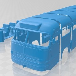 foto 1.jpg Download STL file Mercedes Benz O 321 H Bus 1954 Printable • 3D print template, hora80