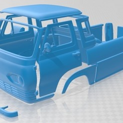 Ford E Series Econoline Pickup 1963 - Separado - 1.jpg Télécharger fichier STL Camionnette Econoline Série E 1963 imprimable • Objet pour impression 3D, hora80
