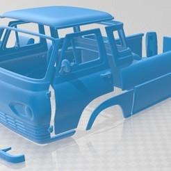 Ford E Series Econoline Pickup 1963 - Separado - 1.jpg Download STL file E Series Econoline Pickup 1963 Printable Truck • 3D print design, hora80