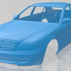 Mercedes Benz S Class 2003-1.jpg Download STL file Mercedes Benz S Class 2003 Printable Body Car • 3D printable object, hora80