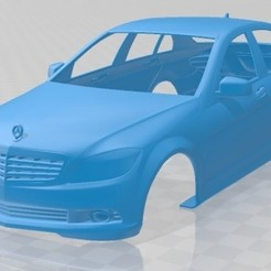 foto 1.jpg Download STL file Mercedes Benz C-Class Saloon 2010 Printable Body Car • 3D print design, hora80
