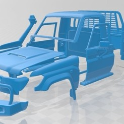 foto 1.jpg Télécharger fichier STL Toyota Land Cruiser J70 Pickup GXL 2008 Voiture à carrosserie imprimable • Modèle à imprimer en 3D, hora80
