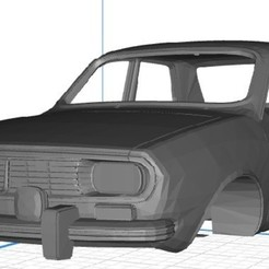 Renaul 12 - 1.jpg Download STL file Renault 12 Printable Body Car • 3D printable model, hora80