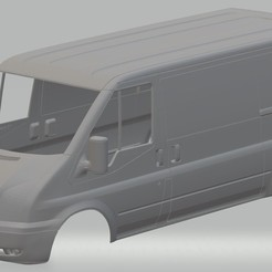 Download 3D printer designs Transit Printable Body Van, hora80