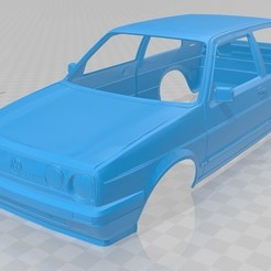 foto 1.jpg Download STL file Volkswagen Golf GTI MK2 Printable Body Car • 3D printer object, hora80