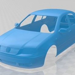 foto 1.jpg Download STL file 2003 Volkswagen Jetta Sedan Printable Body Car • 3D printer design, hora80