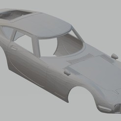 Imprimir en 3D Totoya 2000 GT 1968 Printable Body Car, hora80