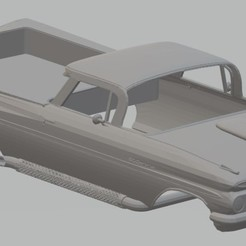 Télécharger plan imprimante 3D El Camino 1959 Carrosserie Imprimable, hora80