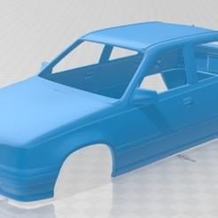 Imprimir en 3D Opel Kadett 1991 Printable Body Car, hora80