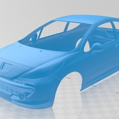 Descargar STL Peugeot 207 Printable Body Car, hora80