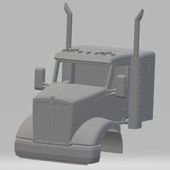 Descargar STL Kenworth T610 Printable Cab Truck, hora80