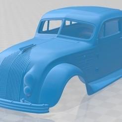 Chrysler Imperial Airflow 1934-1.jpg Download STL file Chrysler Imperial Airflow 1934 Printable Body Car • 3D printable template, hora80