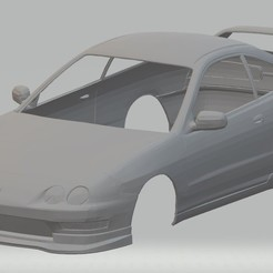 Download 3D printing templates Acura Integra Type R DC2 Printable Body Car, hora80
