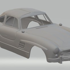 Download 3D print files Mercedes Benz 300 SL Printable Body Car, hora80