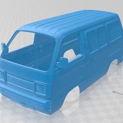 Download 3D model Suzuki Carry Printable Body Van, hora80
