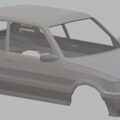 Download 3D printer templates Peugeot 205 GTI Printable body car, hora80