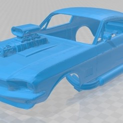foto 1.jpg Download STL file Mustang 67 Supercharged Printable Body Car • Template to 3D print, hora80