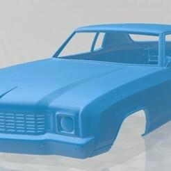 Chevrolet Monte Carlo 1972-1.jpg Download STL file Monte Carlo 1972 Printable Body Car • 3D printable design, hora80