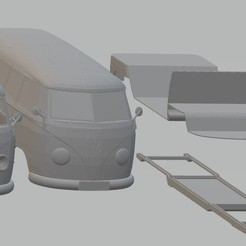 Download 3D printer files Volkswagen Transporter T1 Printable Van, hora80