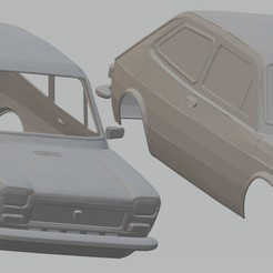 Download 3D printing designs Seat 127 - Fiat 127 Printable Body Car, hora80