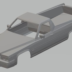 Impresiones 3D El Camino 1977 Printable Body Car, hora80