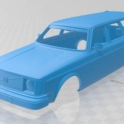 foto 1.jpg Télécharger fichier STL Volvo 245 Wagon 1975 Carrosserie imprimable • Design à imprimer en 3D, hora80
