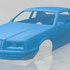 Ford Thunderbird 1983-1.jpg Télécharger fichier STL Thunderbird 1983 voiture à carrosserie imprimable • Design pour imprimante 3D, hora80
