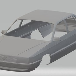Download 3D printer templates Audi 100 Printable Body Car, hora80