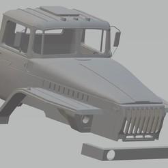 foto 1.jpg Download STL file Ural 44202 Printable Cabin Truck • 3D printer template, hora80
