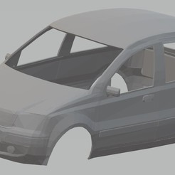 Download 3D printer designs Fiat Panda Printable Body Car, with and without headlights, hora80