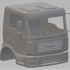 Descargar STL Man TGL Printable Cab Truck, hora80