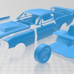 Download 3D printer model Mustang Shelby GT500 Eleanor 1967 Printable Car, hora80