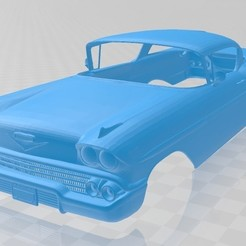 Download 3D printing templates Impala 1958 Printable Body Car, hora80