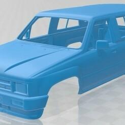 Toyota 4Runner 1986-1.jpg Download STL file Toyota 4Runner 1986 Printable Body Car • 3D printing design, hora80
