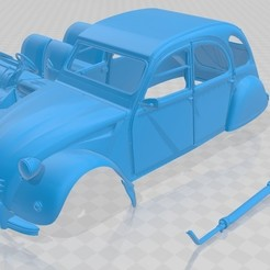 foto 1.jpg Download STL file Citroen 2CV 1970 Printable Car • 3D printer template, hora80