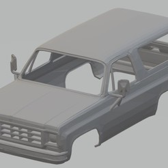 Descargar diseños 3D Blazer K5 1978 Printable Body Truck, hora80