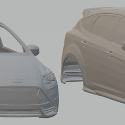 Descargar diseños 3D Focus ST 2012 Printable Body Car, hora80