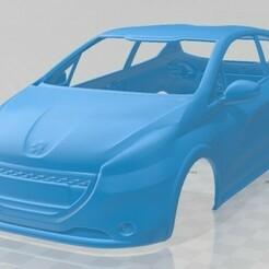 Peugeot 208 GTI 2013-1.jpg Télécharger fichier STL Peugeot 208 GTI 2013 Carrosserie imprimable • Modèle pour imprimante 3D, hora80