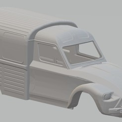 Download STL Citroen Dyane 6 400 Printable Body Van, hora80