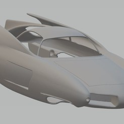 Impresiones 3D Alfa Romeo Bat 7 Printable Body Car, hora80