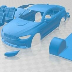 BMW M4 - Cristales Separados-1.jpg Télécharger fichier STL M4 Voiture imprimable • Modèle pour imprimante 3D, hora80