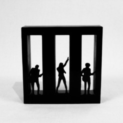Free 3D printer designs Decoration PARAMORE, 3DPurePrint