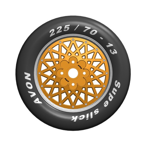 Download STL file WHEEL ROUE RC AVON MICHELIN VINTAGE IN 13 CAR • 3D printing object, Laurence