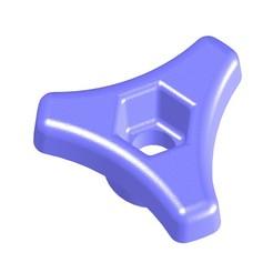 Imprimir en 3D Pomo de la puerta manija de la rueda M5 Tienda de muebles estrella, Laurence