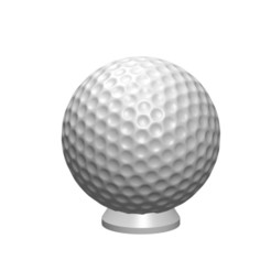 Download 3D printing designs GOLF BALL BUTTON, Laurence
