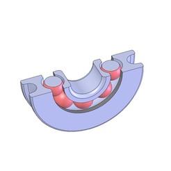 Objet 3D POULIE ROULEMENT PASSE FIL IMPRIMANTE 3D, Laurence