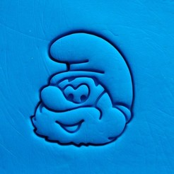 3d printer model Smurf - Papa smurf cookie cutter, dragoboarder