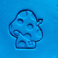 3d printer files Smurf - house - cookie cutter, dragoboarder
