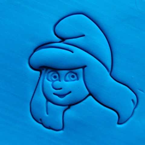 Download STL file Smurf - Smurfette cookie cutter • Template to 3D print, dragoboarder